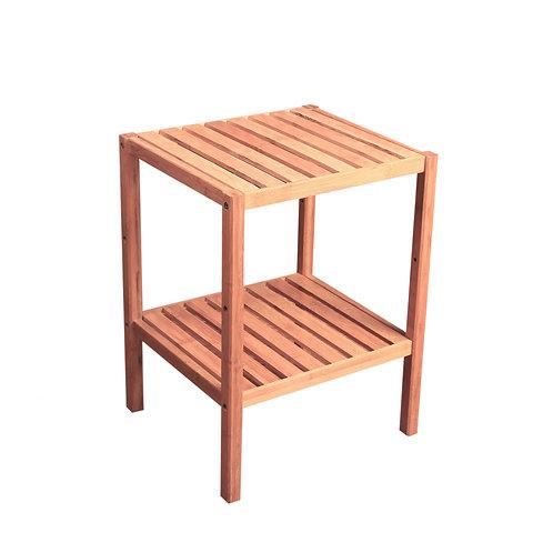 竹製正方兩層架 A2
