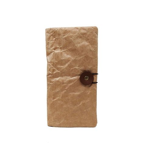 Waxed Washable Kraft Paper Long Wallet