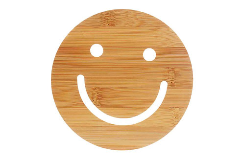 """Smile"" Bamboo Heat Insulator"