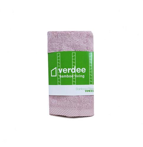 竹纖維毛巾 - 灰粉紅