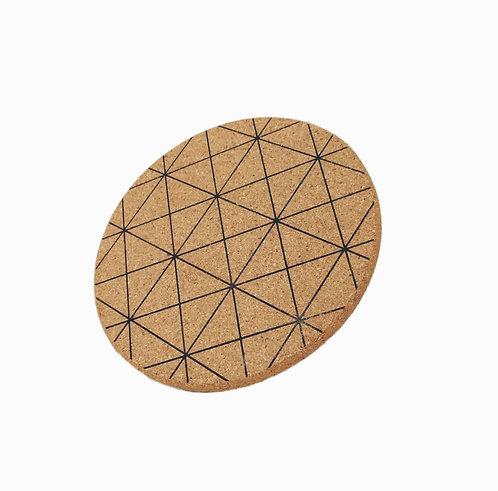 水松軟木隔熱墊 - 格紋