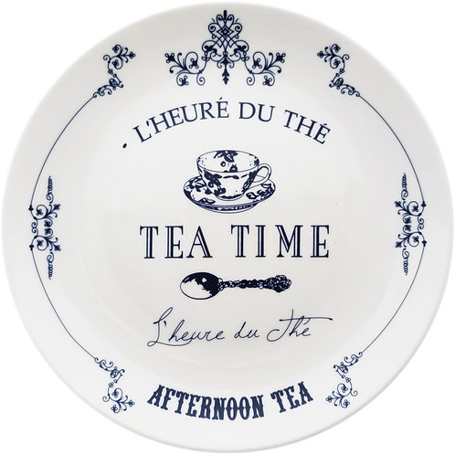 TEA TIME Ceramic Plate