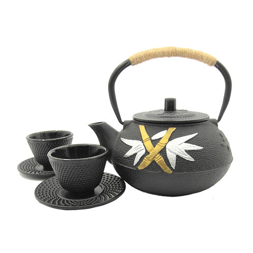 Cast Iron Tea Pot Set