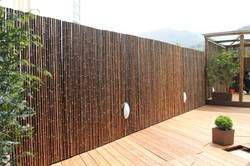 Purple Bamboo Fence