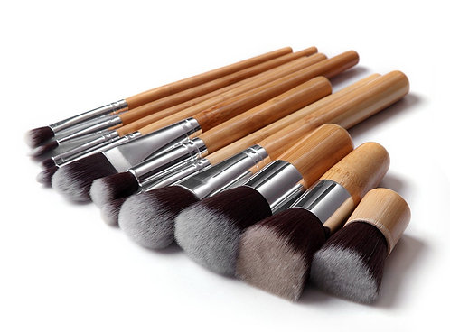Bamboo Make-up Brushes Set Tools (11Pcs)