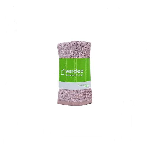 竹纖維手巾 - 灰粉紅