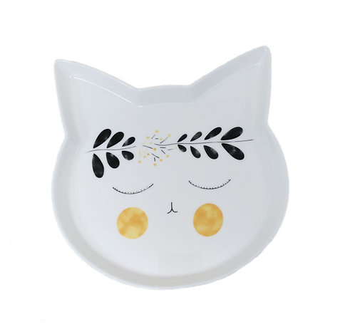 CAT Handpainted Ceramics Plate B