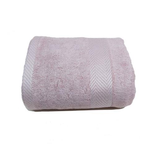 竹纖維浴巾 - 灰粉紅