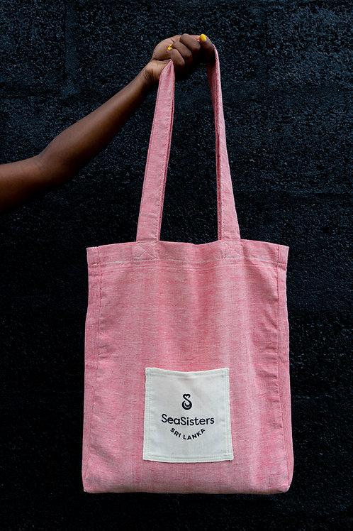 Handloom Bag - red