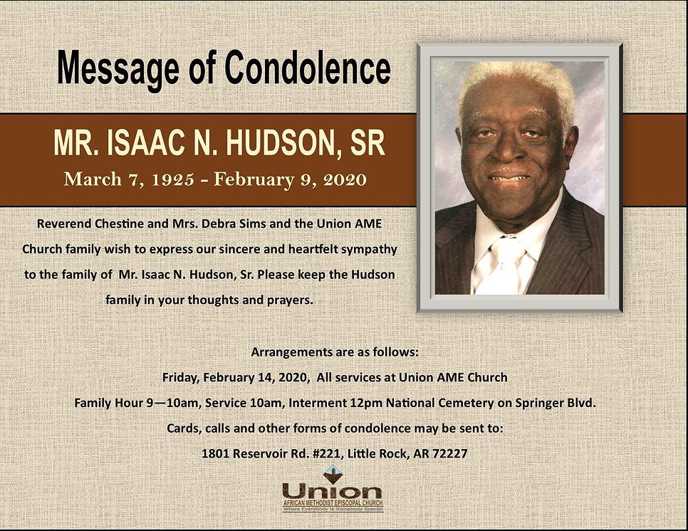 I. N. HUDSON CONDOLENCE MESSAGE.jpg