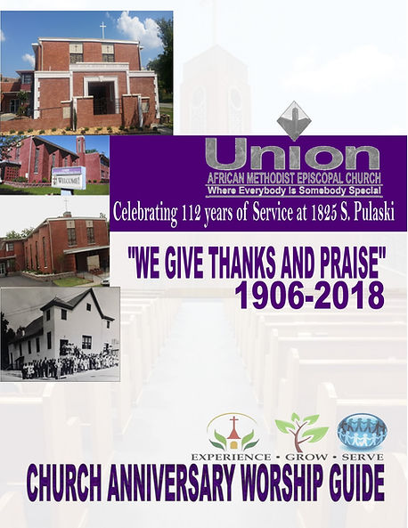 NOVEMBER 25, 2018 - CHURCH ANNIVERSARY c