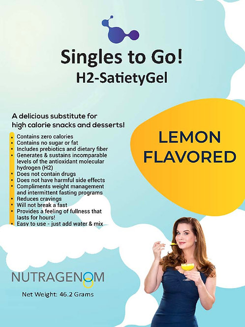 Single–Dose Lemon Flavored H2-SatietyGel Packets