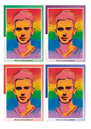 Justice for Samuel (Stickers), 2021 - Silvio Alino