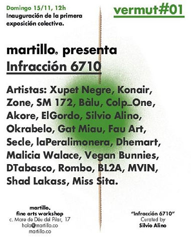 Infracció Exhibition,martillo gallery,curated by Silvio Alino, Silvio Alino