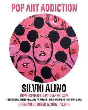 Pop Art Addiction Exhibition, Solo Show, Silvio Alino, Silva Sennacheribbo Gallery, Barcelona