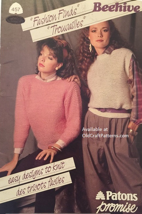 Patons 457. Fashion Finds Easy Designs to Knit - Knitting Patterns