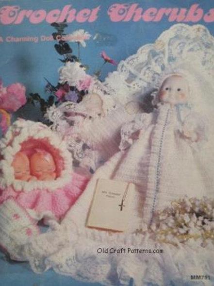 Leisure Time MM751. Crochet Cherubs Doll Clothes Collection - Crochet Patterns