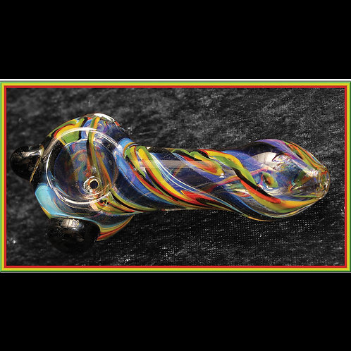 Inside-out rasta hand pipe. RAS-31