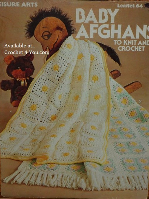 Leisure Arts 64 Baby Afghans Knit and Crochet Patterns