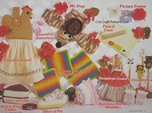 Annies Attic 87s52. Quick'n Easy Bazaar - Crochet Patterns