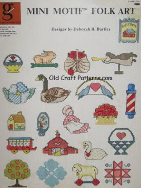 Graphworks 24. Mini Motif Folk Art - Cross Stitch Patterns