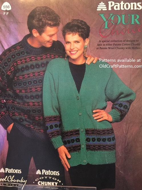 Patons 556. Your Choice - Chunky Cotton Knitting Patterns