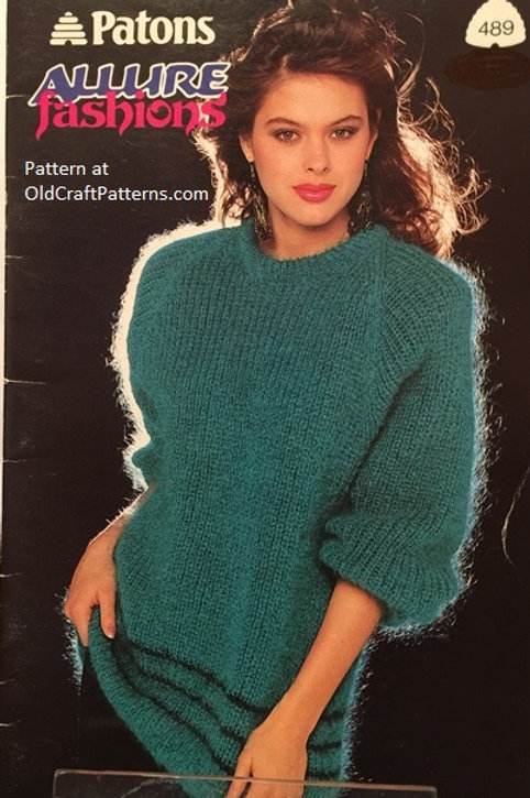 Patons 489. Allure Fashions - Ladies Sweater Knitting Patterns