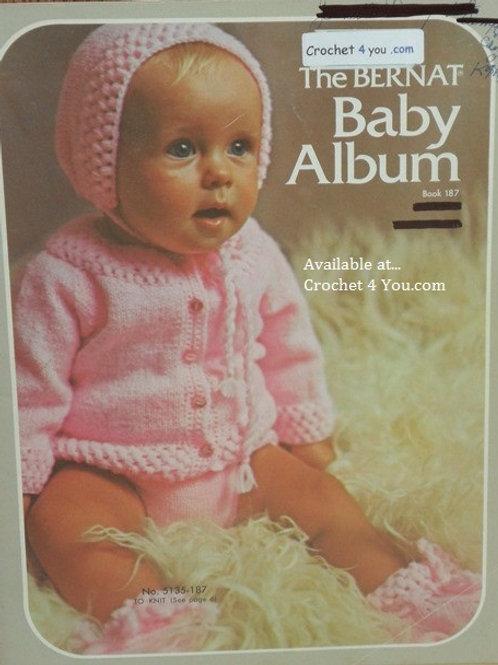 Bernat 187 Baby Album - Knitting and Crochet Patterns