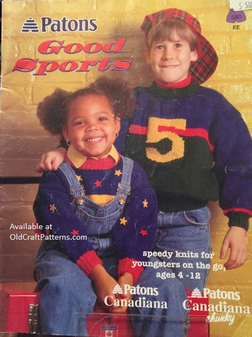 Patons 580. Good Sports Ages 4-12 Knitting Patterns