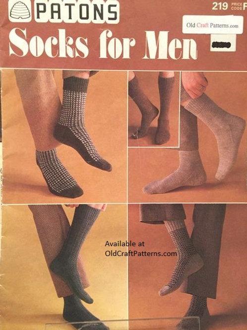 Patons 219. Socks for Men - Knitting Patterns