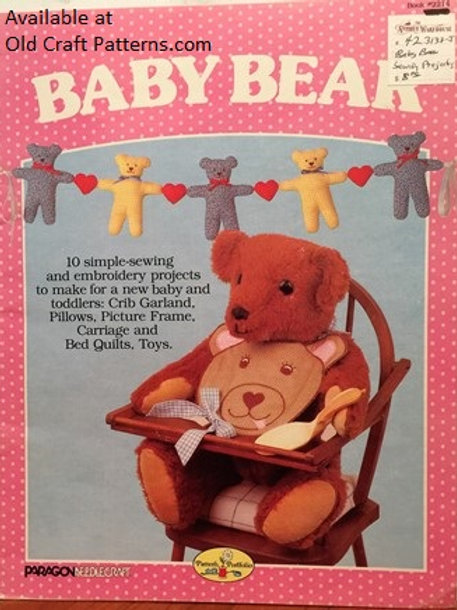 Paragon Needlecraft 2214. Baby Bear - Sewing & Embroidery Baby Projects Patterns
