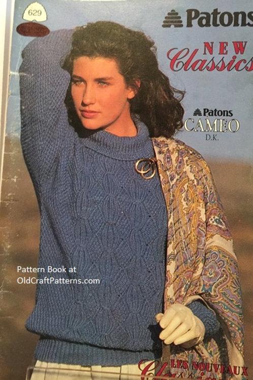 Patons 629. New Classics - Aran Knits Knitting Patterns Book