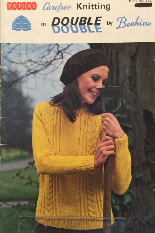 Patons 122. Knitting in Double Double - Family Sweater Patterns