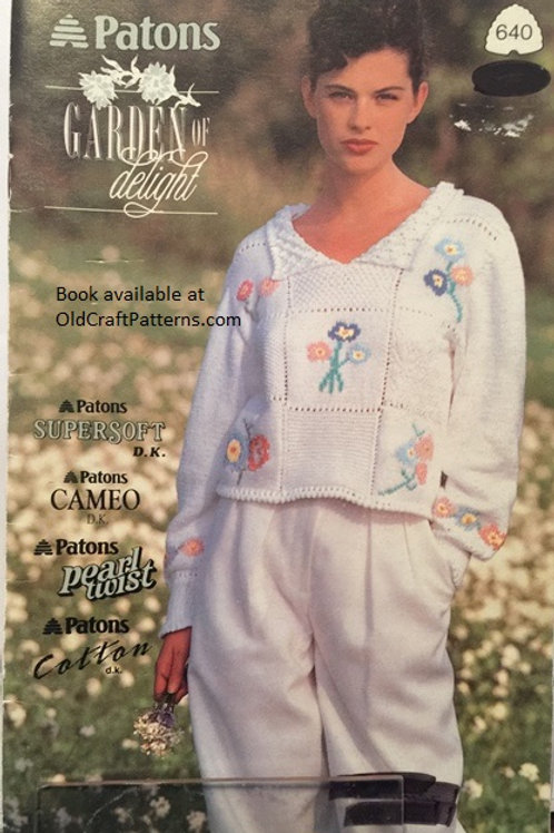 Patons 640 Garden of Delight - Ladies Tops Knitting Patterns