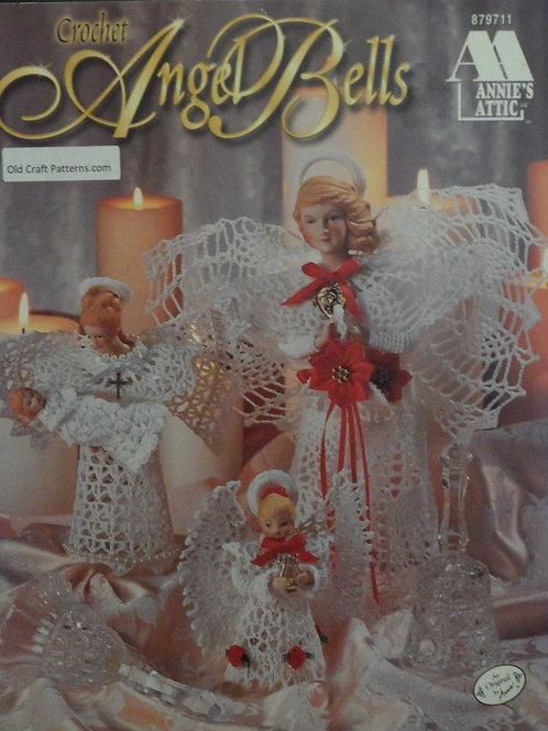 Annie's Attic 879711 - Crochet Angel Bells Christmas Crocheted Patterns