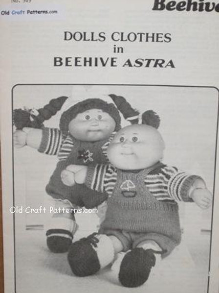 Patons 349. Doll Clothes - Cabbage Patch Type - Knitting Patterns