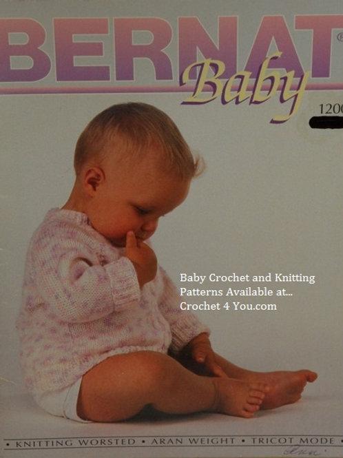 Bernat 1200 Baby Bunting, Sweaters & Blankets Patterns