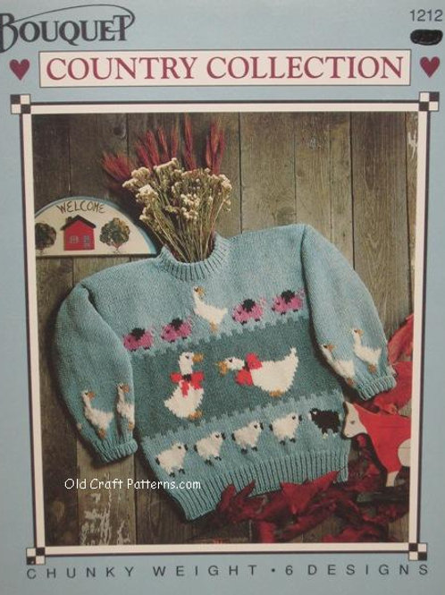 Bouquet 1212. Country Collections Childrens Sweaters Knitting Patterns