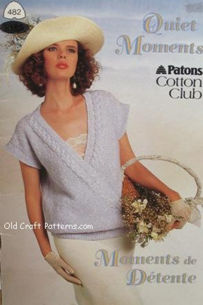 Patons 482. Quiet Moments - Ladies Cotton Tops Knitting Patterns