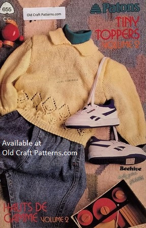 Patons 655 Tiny Toppers Baby Sweaters Knitting Patterns