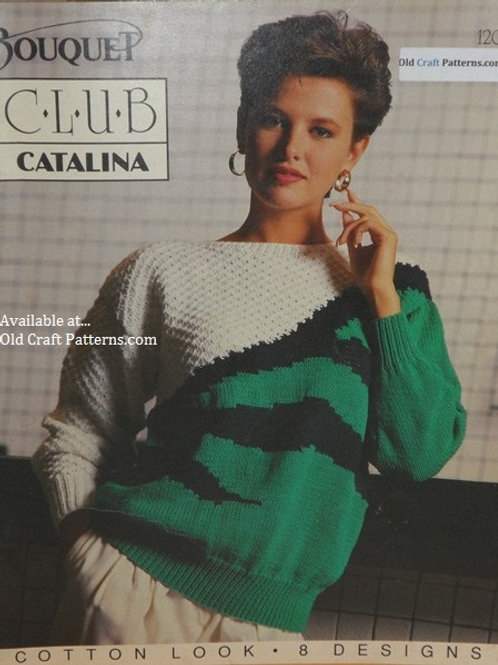 Bouquet 1206. Catalina - 8 Sweater Designs Knitting Patterns