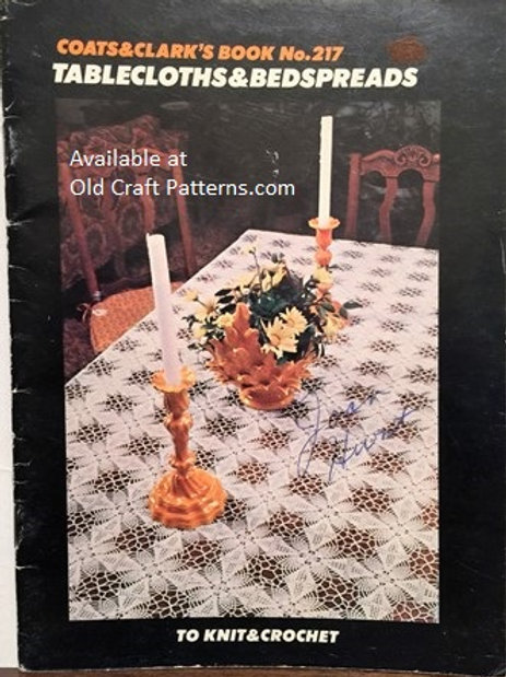 Coats & Clark's 217. Tablecloths & Bedspreads to Knit and Crochet Patterns