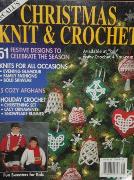 McCalls 48. Christmas Knitting & Crochet Patterns - Dated 1991