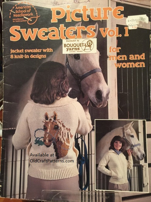 American School 16. Picture Sweaters Vol 1 Knitting Patterns
