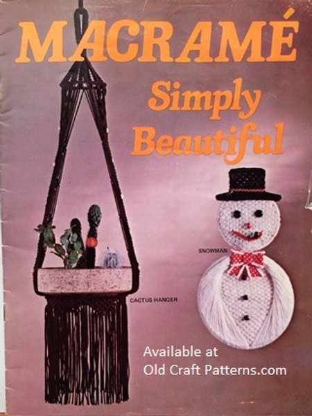Ricalmo 96. Macrame Simply Beautiful Hangers & Snowman Patterns