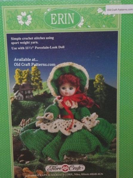 Fibre Craft 241. Erin Irish Style Doll Clothes - Crochet Patterns