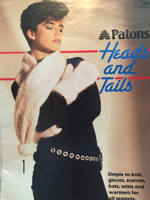 Patons 261. Heads and Tails - Gloves Mitts Scarves Hats Knitting Patterns