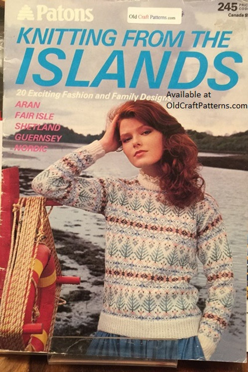 Patons 245. Knitting From the Islands Aran Fair Isle Shetland Guernsey Nordic