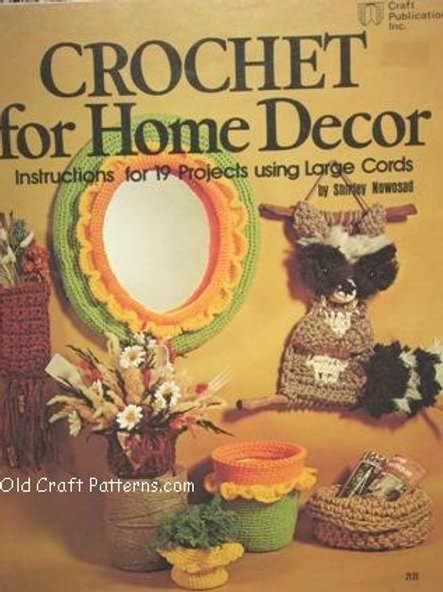 Craft Publications 7121. Crochet for Home Decor 19 Patterns