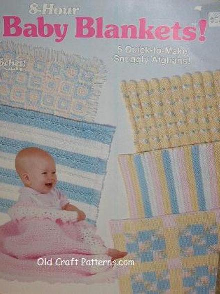 Crochet Catalog 88Q3. Baby Blankets 8 Hour Quick Afghans Crochet Patterns